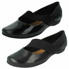LADIES CLARKS DISCOVERY RITZ MARY JANE SLIP ON PUMPS FORMAL CASUAL BALLET SHOES