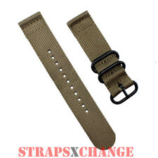 PREMIUM PVD ZULU® 2 Piece OLIVE Military Divers watch strap band Nylon 3 Ring