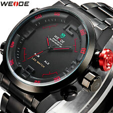 WEIDE Men Military Army Watch Quartz Alarm Date Time Analog Digital LED Hot Sale