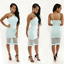 2016 Women Sexy Hole Bandage Package Hip Hollow Out Casual Party Clubwear Dress