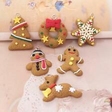 10 PCS Christmas Tree Ornament Decoration Hanging Small Snowman Snowflake