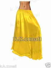 Satin Half Circle Skirt Maxi Skirt Women Long Skirt Belly Dance Dress Rocke Long