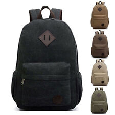 Canvas Men's Vintage Backpack Rucksack Laptop Shoulder Travel Camping Bag 18f