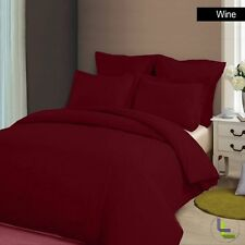 PREMIUM 1000TC 100% COTTON WINE SOLID BEDDING SET CHOOSE YOUR ITEM & SIZE - WI