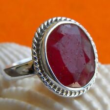 925 Sterling Silver Handmade Ruby Ring, Silver Ring, Jaipur Jewelry Ruby Ring