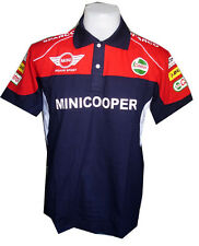 NEW MINI COOPER RAC MOTORCYCLE SPORT RACING TEAM BLUE MENS POLO T-Shirt M,L,XL