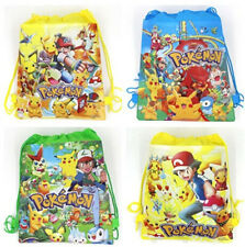 New Pikachu Pokemon Environmental Drawstring Bag Kids Toy Backpack PE Toy Bag