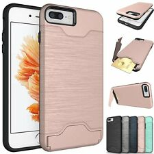 For iPhone 7 / 7 Plus Case Slim Kickstand Credit Card Hard Armor Cover New