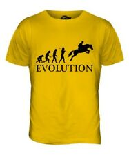 HORSE RACING STEEPLECHASE EVOLUTION OF MAN MENS T-SHIRT TEE TOP GIFT