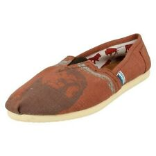 Mens Spot On Lion Print Canvas Slip On Shoe / Casual