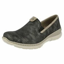 LADIES L3272 SLIP ON LOAFER STYLE WITH REMOVABLE INSOLES SPORTY SYNTHETIC SHOES
