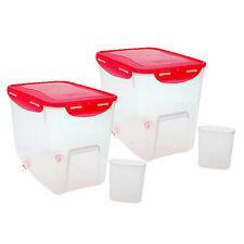 Lock & Lock 4-Piece Bulk Food Container Bins w/ Wheel and Color Lids (HPR141699)