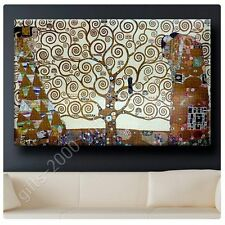 Synthetic CANVAS +GIFT Tree Of Life Gray Gustav Klimt Prints Paints Painting