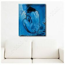 Synthetic CANVAS +GIFT Blue Nude Pablo Picasso Paintings Giclee Posters