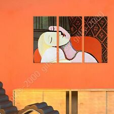 Synthetic CANVAS +GIFT The Dream Pablo Picasso 3 Panels Giclee Paintings