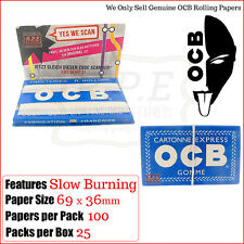 OCB Blue Rolling Papers - 100 Papers Per Pack Multi Listings Full Box
