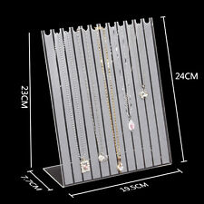 Jewelry Necklaces Pendant Clear Acrylic Display stand show case Holder Organizer