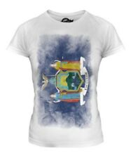 NEW YORK STATE FADED FLAG LADIES T-SHIRT TEE TOP NEW YORKER SHIRT JERSEY GIFT