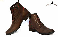 Men's Ankle Chukka Smart Lace-up Cowhide Leather Boot Shoes Handmade With Fur