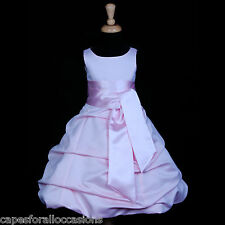 PRINCESS BRIDAL GOWN PINK TODDLER WEDDING FLOWER GIRL DRESS 2 4 6 8 10 12 14 16