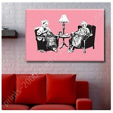 POSTER or STICKER +GIFT Decals Vinyl Old Women Knitting Banksy Poster Prints