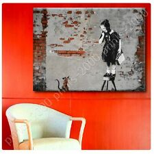 POSTER or STICKER +GIFT Decals Vinyl Girl Rat Mouse Banksy Paints Prints