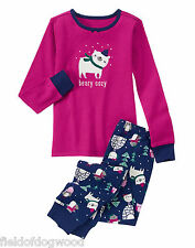 NWT Gymboree Girls Gymmies Beary COZY Pajamas PJs Christmas Holiday 2T,7,8