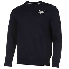 MENS NAVY EVERLAST BOXING GYM CLUB LONG SLEEVE CREW NECK SWEATSHIRT JUMPER TOP