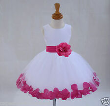 WHITE KNEE LENGTH FLOWER GIRL DRESS CHRISTMAS HOLIDAY WEDDING 12-18M 2 4 6 8 10