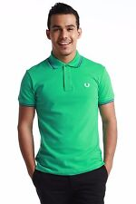 Authentic Fred Perry Green Label MADE IN ITALY Men Twin Tipped Polo