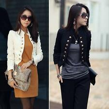 Women Jacket Casual Short Blazer Suit Long Sleeve Coat Outerwear Clothes Outfits