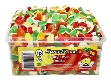 sweetzone JELLY SWEETS CANDY 100% HALAL Fruity Love Hearts FULL TUB 600 PCS