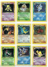 ULTRA RARE - POKEMON 1st EDITION TEAM ROCKET - HOLO & RARE CARDS