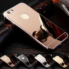 Luxury Mirror Back Cover Skin Metal Aluminum Frame Case For Apple iPhone 7/7Plus