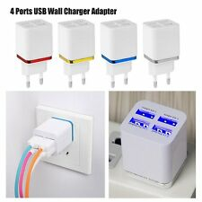 4 in 1 Port 2 USB Ports Wall AC Charger Adapter Universal For Travel Home Office