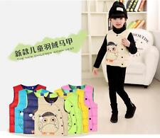 2016 New children fall/winter down vest candy color boy girl's down jacket