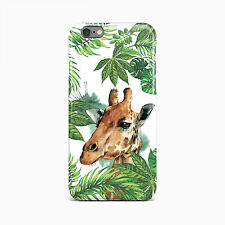 Giraffe Animal Floral Hard Cover Case For iPhone 4 4s 5 5S 5c SE 6s 6 plus iPod