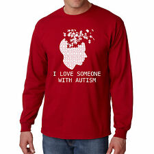 T Shirt Autism Long S Support Sleeve Awareness I Mens Heart Love Someone Puzzle
