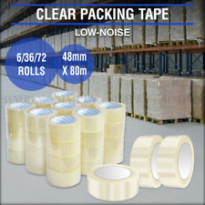 Low Noise Clear Packing Tape Packaging Sticky Bulk Rolls Adhesive Box 48mm x 80m