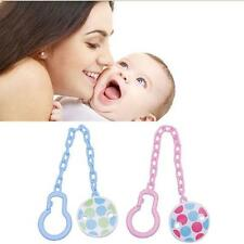 Girl Boy Dummy Pacifier Baby Soother Infant New Holder Chain Clip Toddler Toy