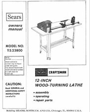 Sears Craftsman Wood Metal Lathe Owners Manual Many Mod