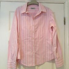 Chatham Pink & White Striped Shirt With 10
