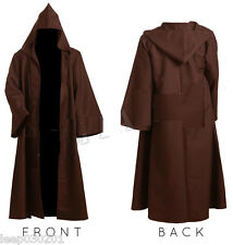 Mens Monk Robe Priest Friar Tuck Medieval Cloak Costume World Book Day Halloween
