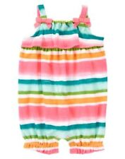 NEW Gymboree FLAMINGO FLAIR Bubble Romper Knit Painted Striped 12 18 24 Baby