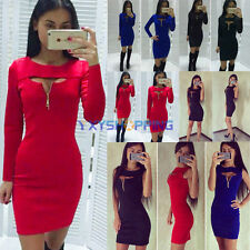 Sexy Women Casual Bodycon Long Sleeve/Sleeveless Cocktail Party Short Mini Dress