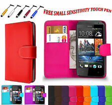Magnetic PU Side open Leather  Book Flip Wallet Case Cover For HTC DESIRE 626 UK