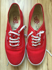 Vans Off The Wall Red Canvas Trainers/Pumps Mens/Womens/Girls/Boys UK Size 5
