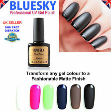 BLUESKY Matte Top Coat UV LED Soak Off Nail Gel Polish Manicure Art - 10ml