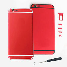 Red Metal Housing Door Battery Back Cover Replace For iPhone 6 4.7 Repair parts
