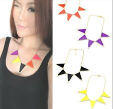 New Korean Style Gold Plated Alloy Enamel Geometry Triangle Choker Necklace
